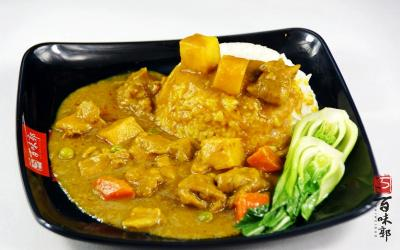 百味郭豆腐脑加盟 咖喱鸡米饭