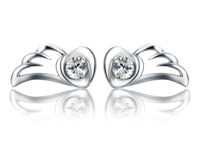 珂兰钻石加盟 珂兰钻石天使之翼耳钉
