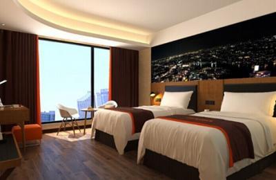 骏怡连锁酒店加盟 双床房