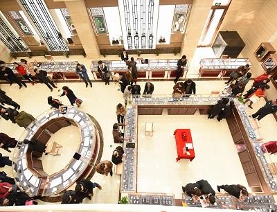 中艺财富艺术品体验馆加盟 店面俯视图