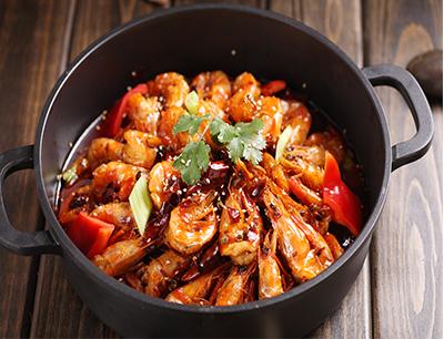 巴国鸡煲香辣虾加盟 滋味欢辣虾