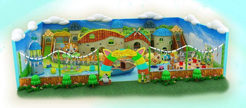 凯特乐儿童乐园加盟 猫村狂想曲 300平米场地