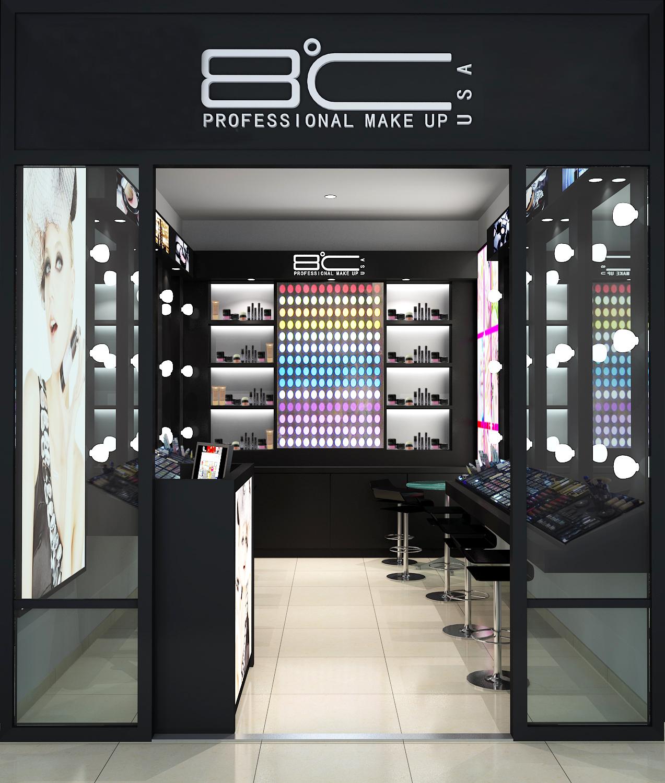 潘多拉8度彩妝化妝品加盟品牌圖-店鋪實景圖-裝修效果