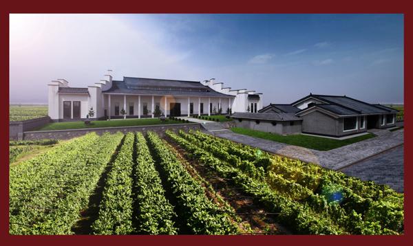 在酿酒葡萄生态产业园中建有古朴典雅的中式酒庄一座图片