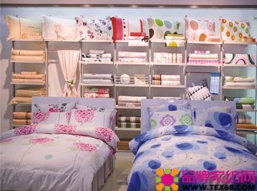 儿童床品陈列图片