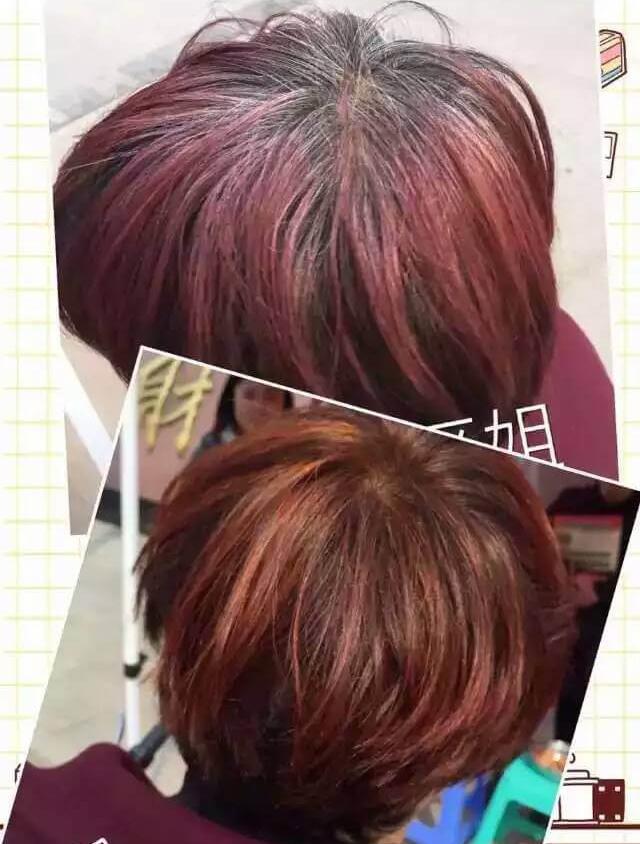 (金紫雨纯植物染发粉海娜粉养发一次的效果图)-别再被化学染发伤图片